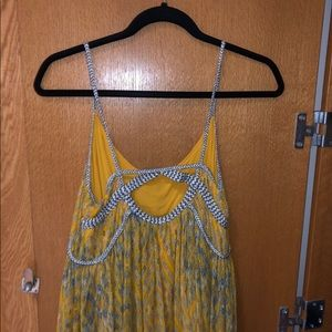 Free people yellow flowy sundress